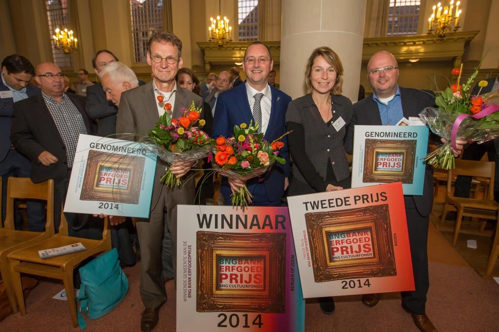 BNG Bank Erfgoedprijs 2014, gemeenten Bergen op Zoom, Coevorden, Midden-Delfland en Rheden